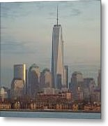 Ellis Island And The Freedom Tower Metal Print