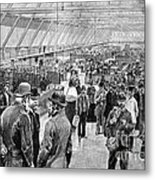 Ellis Island Immigration Hall, 1890s Metal Print