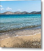 Elounda Beach Metal Print