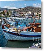Elounda Harbour Metal Print