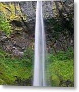 Elowah Falls In Spring Metal Print
