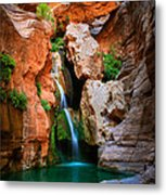 Elves Chasm Metal Print by Inge Johnsson