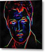 Elvis At Neon Metal Print