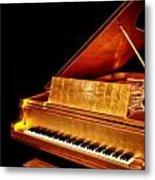 Elvis' Gold Piano Metal Print