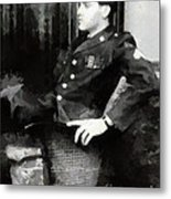 Elvis In Uniform Metal Print