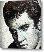 Elvis Love Me Tender Mosaic Metal Print