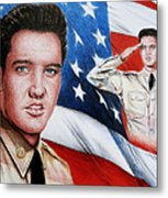 Elvis Patriot  Metal Print