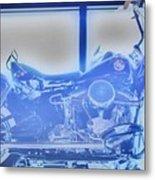 Elvis Presley Harley Davidson  Hdr Metal Print