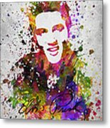 Elvis Presley In Color Metal Print