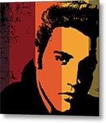 Elvis Presley Metal Print by Kenneth Feliciano