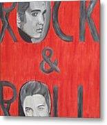 Elvis Presley King Of Rock And Roll Metal Print