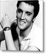 Elvis Presley Looking Casual Metal Print