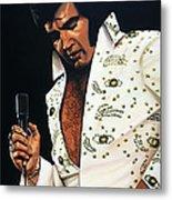 Elvis Presley Painting Metal Print