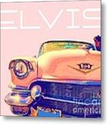 Elvis Presley Pink Cadillac Metal Print