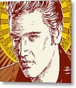 Elvis Presley Pop Art Metal Print