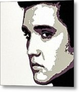 Elvis Presley Portrait Art Metal Print