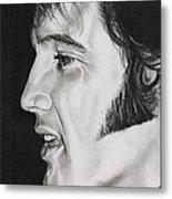 Elvis Presley  The King Metal Print