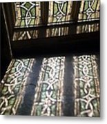 Ely Cathedral Window And Reflection Metal Print