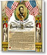 Emancipation Proclamation Tribute 1888 Metal Print
