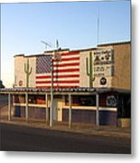Emblazoned American Flag Silver Dollar Bar Eloy Arizona 2004 Metal Print