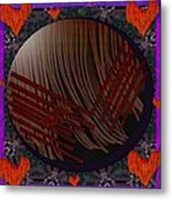 Embrace Our Earth With Love Pop Art Metal Print