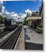Embsay Railway Station Yorks Dales Metal Print