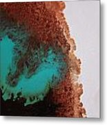 Emerald And Brown Mixing Metal Print