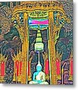 Emerald Buddha In Royal Temple At Grand Palace Of Thailand Metal Print