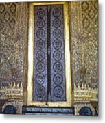 Emerald Buddha Temple Door Metal Print