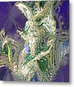 Emerald Elemental Metal Print