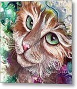 Emerald Eyes Metal Print