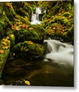 Emerald Falls In Columbia River Gorge Oregon Usa Metal Print