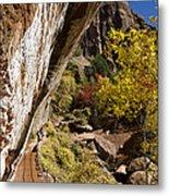 Emerald Falls Zion National Park Metal Print