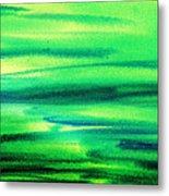 Emerald Flow Abstract I Metal Print