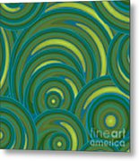 Emerald Green Abstract Metal Print