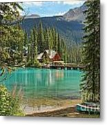 Emerald Lake Lodge Metal Print