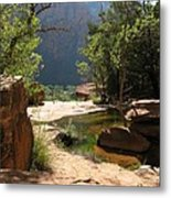Emerald Pool View Metal Print