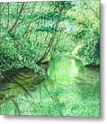 Emerald Stream Metal Print