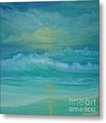 Emerald Waves Metal Print