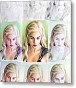 Emilia Clarke Miniature Step By Step Metal Print by Wu Wei