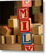 Emily - Alphabet Blocks Metal Print