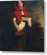 Emily Anderson Little Red Riding Hood Metal Print