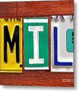 Emily License Plate Name Sign Fun Kid Room Decor Metal Print