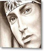 Eminem Metal Print by Michael Mestas