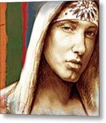 Eminem - Stylised Drawing Art Poster Metal Print