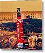 Emirates At Alcatraz Metal Print