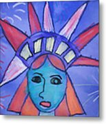 Emma's Lady Liberty Metal Print