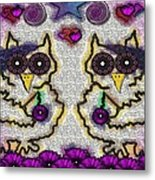 Emo Owls Metal Print