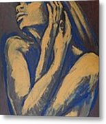 Emotional - Female Nude Portrait Metal Print