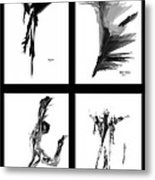 Emotions In Black - Abstract Quad Metal Print